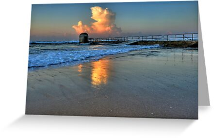 Morning Clouds at Merewether Baths by Mark Snelson