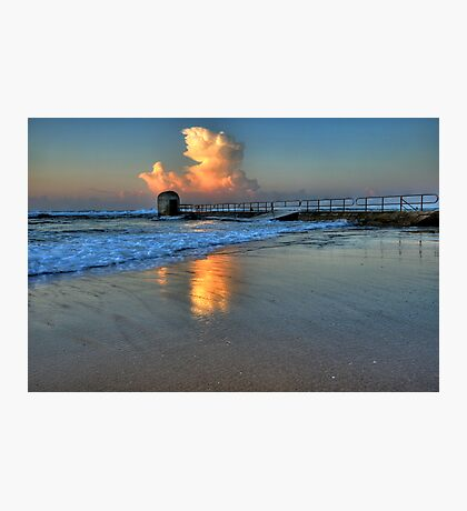 Morning Clouds at Merewether Baths Photographic Print