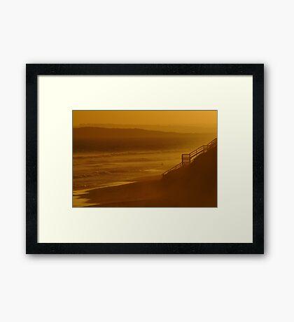 Wave Rider,13th Beach Framed Print