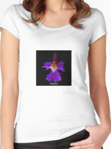The Wizard - Orchid Alien Discovery Women's Fitted Scoop T-Shirt