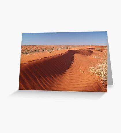 Madigan Line Sand Hill Simpson Desert  Greeting Card