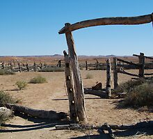 Dalhousie Stock Yard Ruins,Outback Australia by Joe Mortelliti