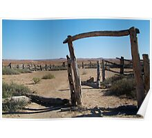 Dalhousie Stock Yard Ruins,Outback Australia Poster
