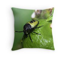 Still Bugging Throw Pillow