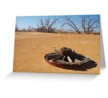 Cart Wheel,Outback Australia,Qld Greeting Card