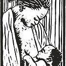 Breastfeeding mother by Jean  Burke