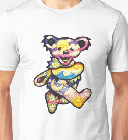 The Happy High Bear (Psychedelic Bear) Unisex T-Shirt