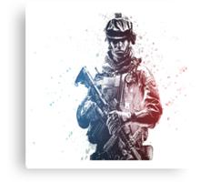 Battlefield Soldier Canvas Print