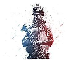 Battlefield Soldier Photographic Print