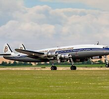 L-1049F Super Constellation HB-RSC taking off by Colin Smedley