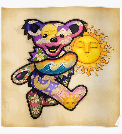 The Bear Is Dancing Near The Sun Poster