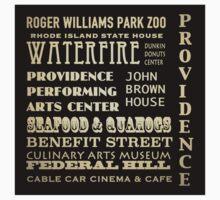 Providence Rhode Island Famous Landmarks T-Shirt