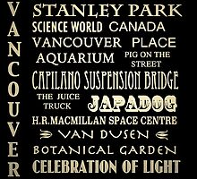 Vancouver Canada Famous Landmarks by Patricia Lintner