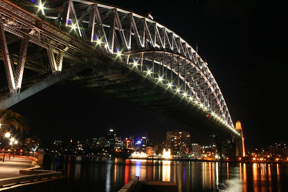 Sydney Harbour Bridge By Night by AGNPhotography