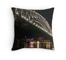 Sydney Harbour Bridge By Night Throw Pillow