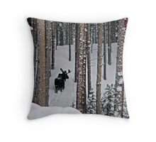 Snow Series - Backside Vasquez Throw Pillow