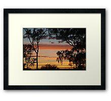 Sunrise through the Ghost Gums,Batton Hill,North Simpson Desert Framed Print