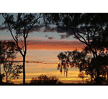Sunrise through the Ghost Gums,Batton Hill,North Simpson Desert Photographic Print