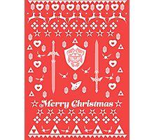 Zelda Christmas Card Jumper Pattern Photographic Print
