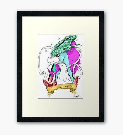 Pokedex 245 - Suicune Framed Print