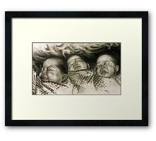 Three Babies  Framed Print