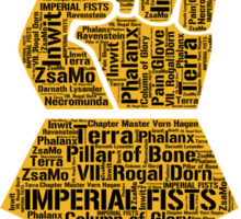 Imperial Fists, Warhammer 40K Sticker