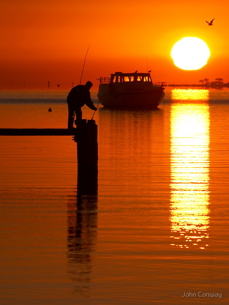 Fishing at Dawn #2 by John Conway
