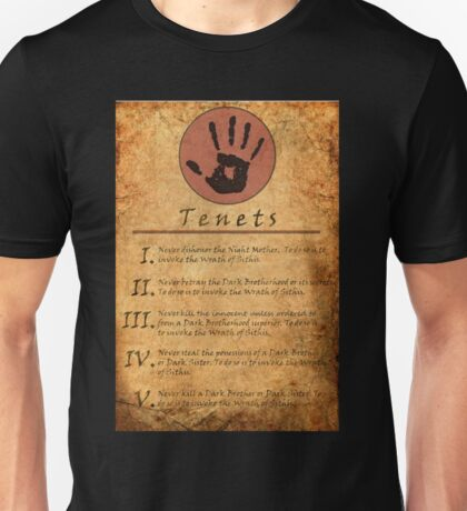 The Elder Scrolls V: Skyrim - Dark Brotherhood Tenents Unisex T-Shirt