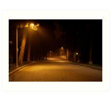 Late night, Beverley Hills, CA Art Print