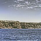 Cruise Ship and Cliffs by Tom Gomez