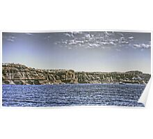 Cruise Ship and Cliffs Poster