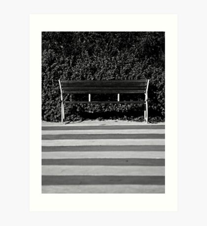 The Empty Bench Art Print