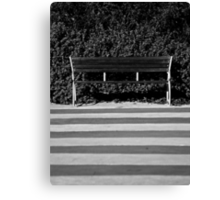 The Empty Bench Canvas Print