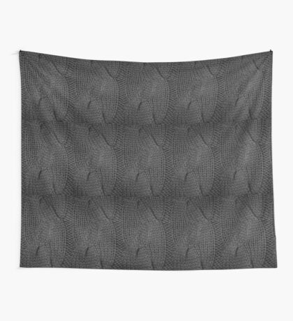Grey Cable Knit | texture Wall Tapestry