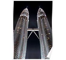Silver Glow at Night - Kuala Lumpur, Malaysia. Poster