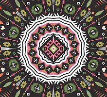 Ornamental round aztec geometric pattern by tomuato