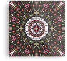 Ornamental round aztec geometric pattern Metal Print