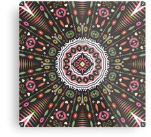 Ornamental round aztec geometric pattern Metal Print