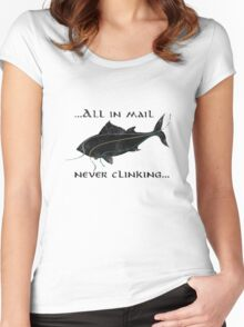 Riddles In The Dark (Fish) - The Hobbit Women's Fitted Scoop T-Shirt