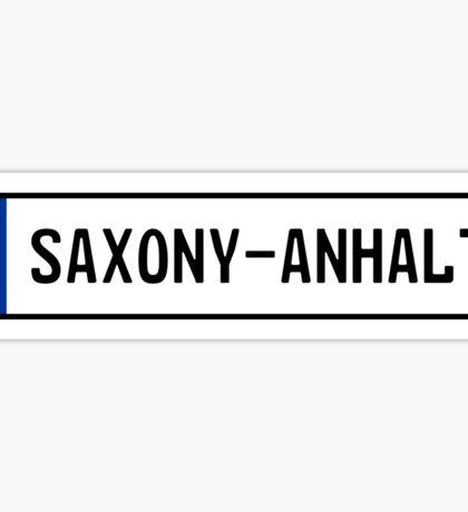 Saxony-Anhalt Kennzeichen Sticker