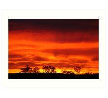 Firey Sunrise, Batton Hill, North Simpson Desert Art Print