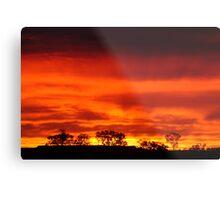 Firey Sunrise, Batton Hill, North Simpson Desert Metal Print