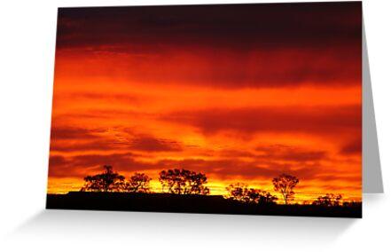 Firey Sunrise, Batton Hill, North Simpson Desert by Joe Mortelliti