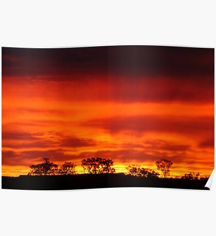 Firey Sunrise, Batton Hill, North Simpson Desert Poster