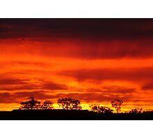 Firey Sunrise, Batton Hill, North Simpson Desert Photographic Print