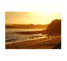 Strolling Torquay Surf Beach,Great Ocean Road Art Print