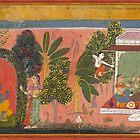 Kama Aims His Bow at Radha, Loves of Krishna by Bruno Beach