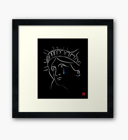 Statue Of Liberty tears Framed Print