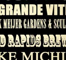 Grand Rapids Michigan Famous Landmarks Sticker