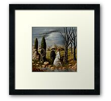 Apparition in a Landscape Framed Print